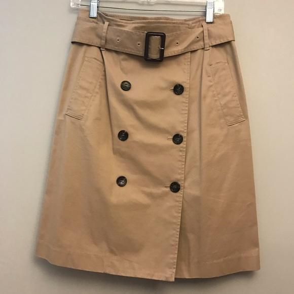 3bd25fa1cb Talbots Skirts | New Wrap Skirt Trench Look Khaki Size 6 | Poshmark